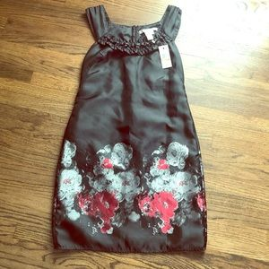 Studio M Black Floral Dress Size 12 NWT